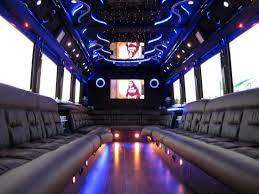 Enjoying the Comfort of a Luxurious Party Bus